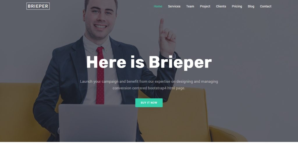 Brieper - HTML Landing Page Template